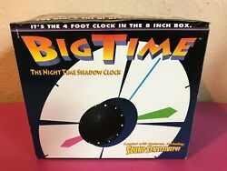 Rare Vintage Big Time 4 Foot Shadow Night Time Clock Clap On Operation Cordless