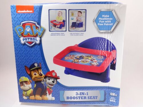 NEW IN BOX!!! Nickelodeon PAW PATROL 3-IN-1 BOOSTER SEAT [Ages 6+] BPA Free Blue