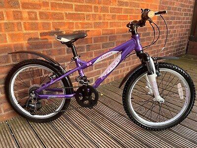 "CARRERA LUNA 20 Mountain Bike 20"" Wheel Girls Hardtail Bike Kids Hybrid Mtb"