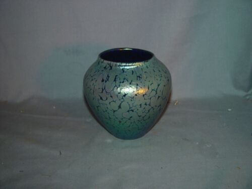 LOETZ BLUE OIL SPOT VASE