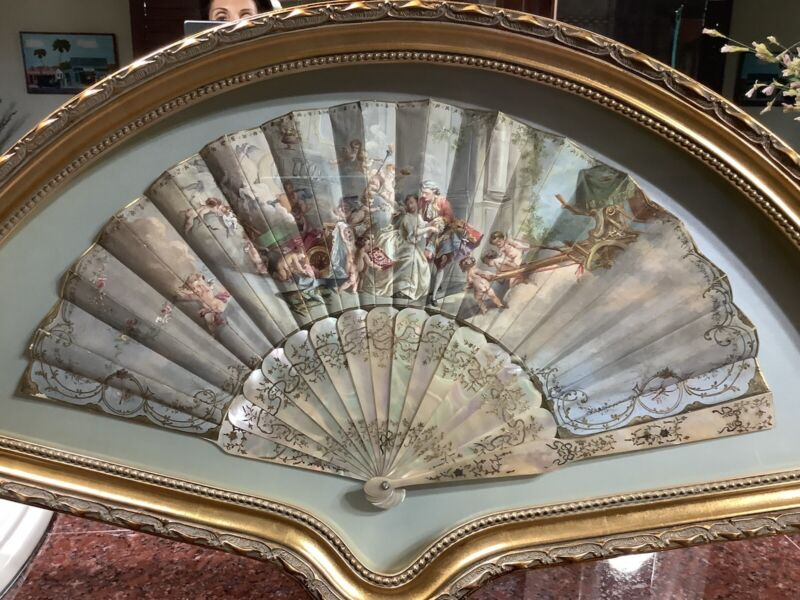 Antique Fans, One of Many from a Private Collection