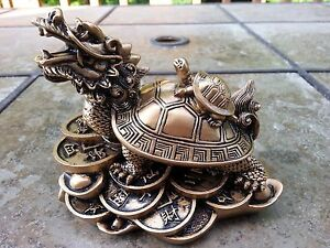 Chinese Feng Shui statue Dragon turtle 5