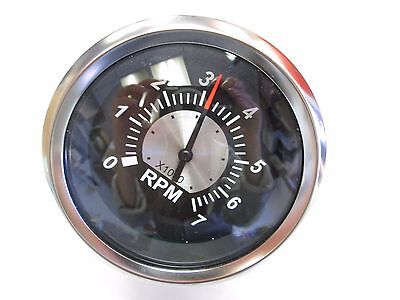 """67363P Teleflex Boat Black Sterling 3"""" Outboard/4-Cycle 7K RPM Tachometer"""