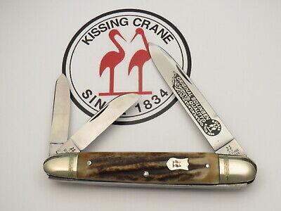 """Vintage Kissing Crane Solingen Stag Whittler """"Anglo Saxon"""" Pattern Mint"""