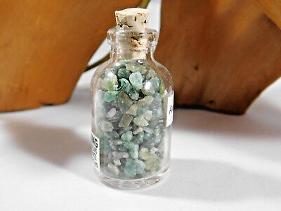 Glass Jar Filled with Green Aventurine Chips, Excellent Gift Idea, Mineral SALE - Jar Gift Ideas