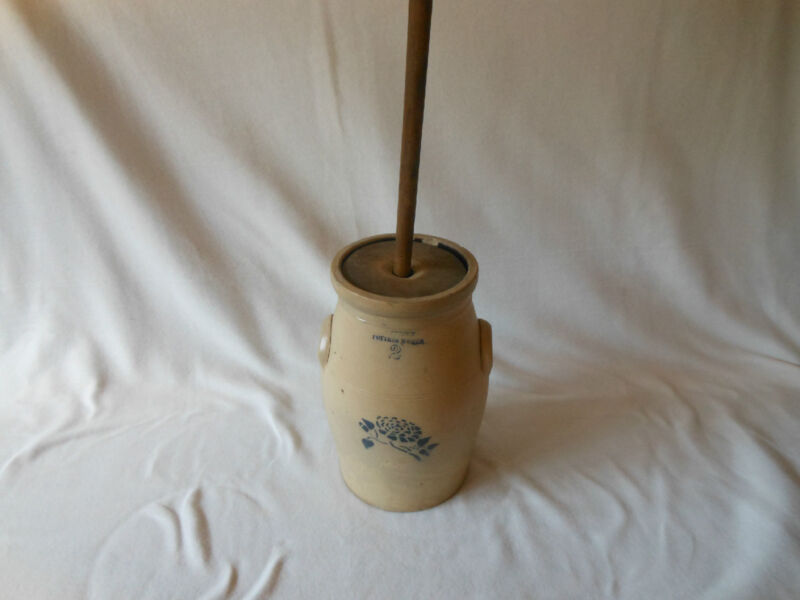 STONEWARE BUTTER CHURN