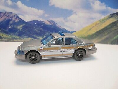 2006 FORD CROWN VICTORIA POLICE   2019 Matchbox MBX Rescue Series   Gray
