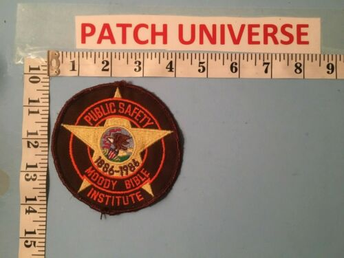 MOODY BIBLE INSTITUTE ILLINOIS PUBLIC SAFETY SHOULDER PATCH  L083