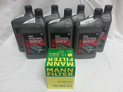 Genuine BMW Synthetic 5W-30 High Performance Motor Oil With OEM MANN Oil Filter