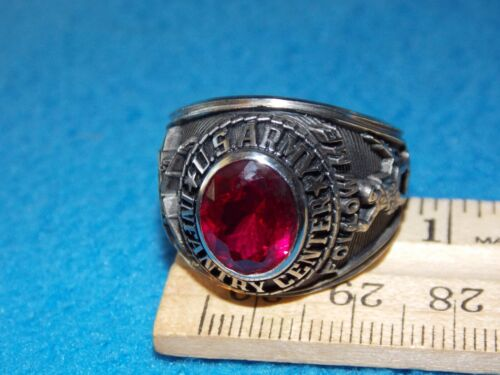 VINTAGE - U.S.ARMY RING - SIZE 11.5 - FOLLOW ME - NOS - LIFE TIME ALPHA BRAND