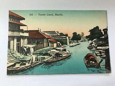 Tondo Canal Manila Philippine Philippines Islands Postcard