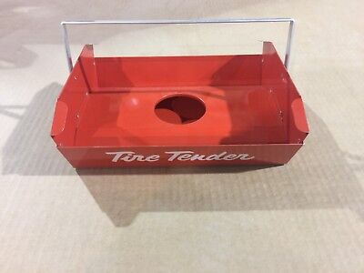 (VINTAGE SERVICE STATION TECH TIRE TENDER REPAIR TOOL CADDY SIGN MINT CONDITION)