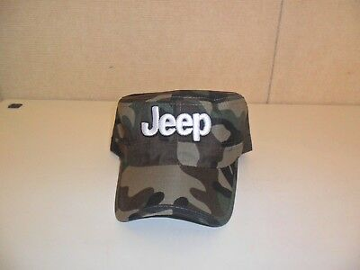JEEP HAT CADET STYLE GREEN BROWN CAMOUFLAGE FREE SHIPPING GREAT GIFT 736