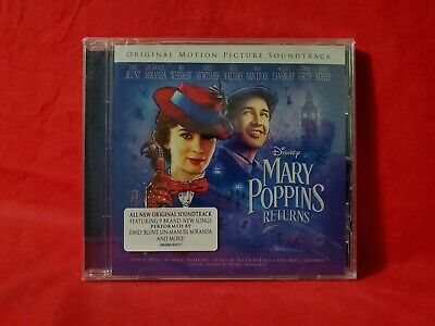 Mary Poppins Returns 2018 EU Import Disney Soundtrack CD NEW 27 Tracks  - $9.99