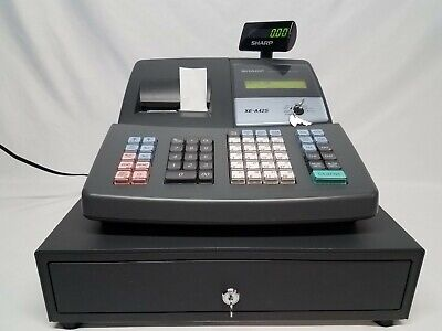 Sharp Electronic Cash Register Model Xe-a42s Used In Good Working Condition