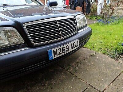 Mercedes W140 front bumper Azurite blue