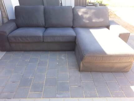 Modular- Ikea KIVIK 3-seat sofa, Hillared with chaise longue