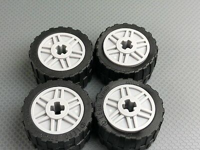 New LEGO LBG Wheels 18mm x 14mm Lot of 4 Authentic 24x14 Tires Shallow Tread