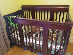 Crib and change table.