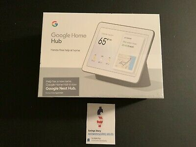 "Google Nest Hub 7"" - Charcoal -  w/ Google Assistant - Home Hub New In Box"