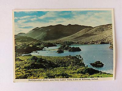 Killarney Ireland c1952 colour Postcard McGillycuddy's Reeks from Ladies' View