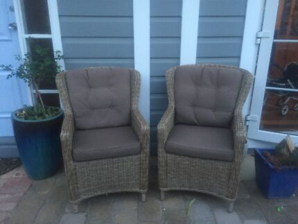 Wicker chairs (2 available)