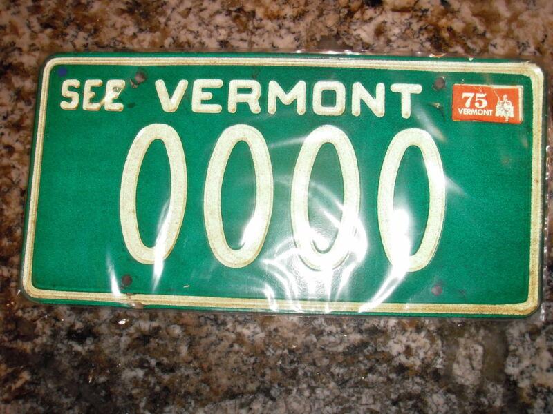 1975 VERMONT SAMPLE LICENSE PLATE