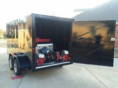 Detrailers Enclosed Hot Water Pressure Washing Trailer