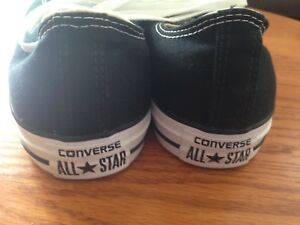 Converse All Star, low, black, size 9.  $40obo