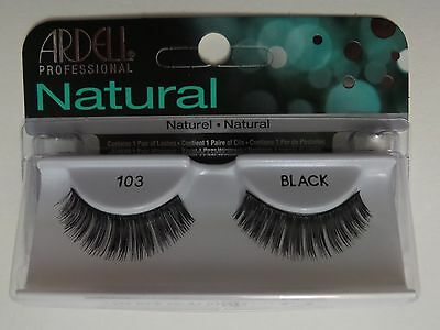 (LOT OF 72) Ardell Natural Lashes #103 False Fake Eyelashes Black Fashion