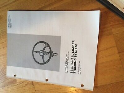 Cat 988b Wheel Loader 988 Tractor Steering Service Manual Antique