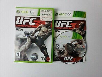 UFC Undisputed 3 (Microsoft Xbox 360, 2012) Complete CIB FAST SHIP comprar usado  Enviando para Brazil