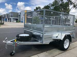 7x4 HEAVY DUTY HIGH SIDES BOX TRAILER GALVANISED WITH 2FT MESH CAGE Cardiff Lake Macquarie Area Preview