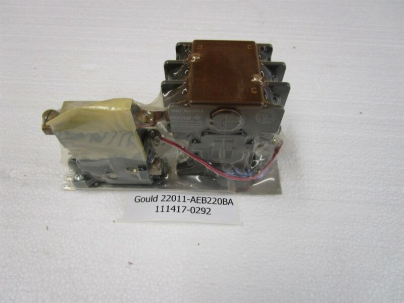 Gould Motor Starter 22011-AEB220BA 2 Pole 25 amp 24 vac Coil New