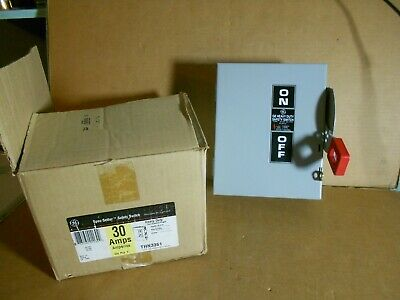 New General Electric Ge Thn3361 30a 600v Non-fusible Safety Disconnect Switch