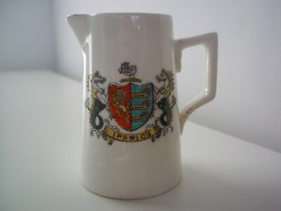 Fords China Crested Ware Jug (Ipswich Coat of Arms)