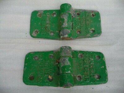 Vintage Pair Heavy Duty Industrial Iron Hinges Galvanised P.C.HENDERSON 3.2 Kilo