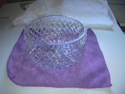 good weight vintage crystal salad bowl