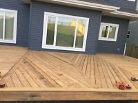 Install fence and decks