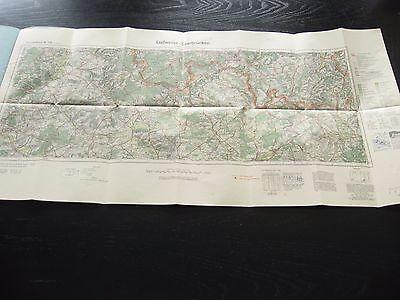 alte Karte Landkarte Reichskarte Nr.136 In 5 Farben Saarbrücken Ludweiler 1936