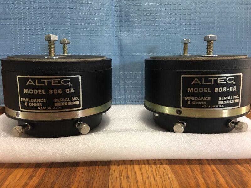 Altec 806-8A (8 Ohm) Horn Compression Drivers