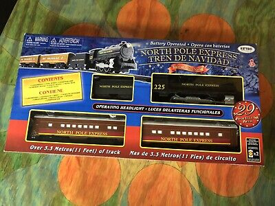 EzTec North Pole Express Christmas Train Set Battery Operated Brown - NEW IN BOX