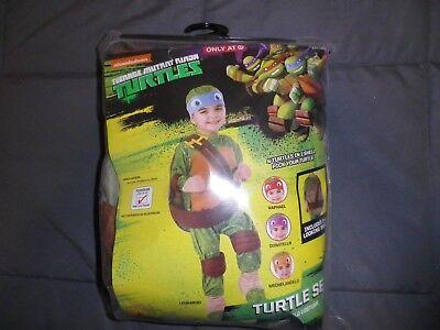 TEENAGE MUTANT NINJA TURTLE LEONARDO COSTUME BRAND NEW  SIZE 3T-4T - 4t Ninja Turtle Costume