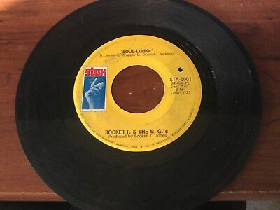 """Booker T & The MG's """"Soul Limbo""""/ """"Heads Or Tails"""" SOUL 45 on STAX PLAYS"""
