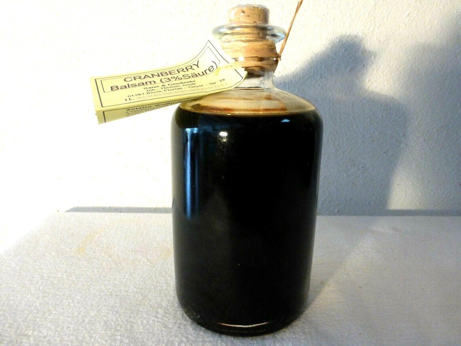 Cranberry Balsam Crema - 1L-3% Säure - dickflüssig, fruchtig m. Aceto Balsamico!
