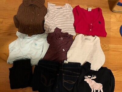Lot of Girls Abercrombie and fitch clothes size 13/14