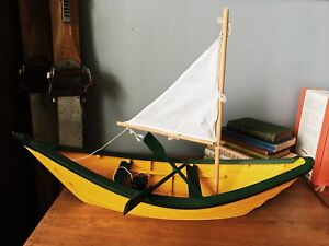 Wooden toy boat from east coast