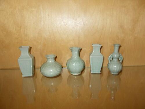 Chinese Celadon Tiny Vases