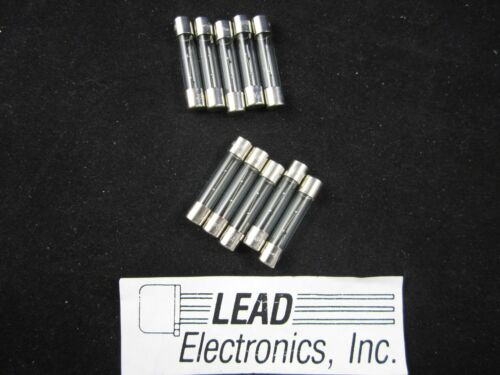 QTY10 AGC-500MA 6MM X 30MM FAST ACTING 500-MA GLASS FUSE