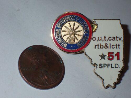 IBEW Collectible Lapel Pin Local 51 Springfield IL